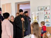 """Митрополит Никодим відвідав Житомирську ЗОШ №1, де взяв участь у християнському благодійному проекті """"Психологічне розвантаження дітей""""!"""