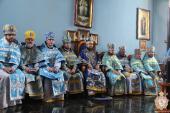 У другий день свята Успіння Пресвятої Богородиці митрополит Никодим очолив літургію в Успенському храмі смт. Романів!