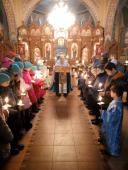 Вечірня накануні свята Введення у храм Богородиці в Свято-миколаївському храмі Попільні!