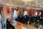 У тронному залі Житомирського Єпархіального Управління під головуванням митрополита Никодима відбулися збори благочинних єпархії.