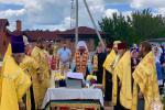 Митрополит Никодим очолив недільну літургію у кафедральному соборі та звершив освячення місця під храм-часовню у Пулинському районі!