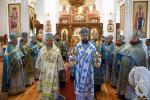 В день шанування Володимирської ікони Божої Матері митрополит Никодим очолив Божественну літургію у Свято-Благовіщенському соборі Коростишева!