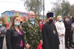 Священник Бердичівського благочиння взяв участь в урочистій церемонії відкриття пам'ятника захисникам України в смт Гришківці