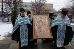 Православні віруючі Бердичева зустріли чудотворну ікону Божої Матері «Віднайдення загиблих»
